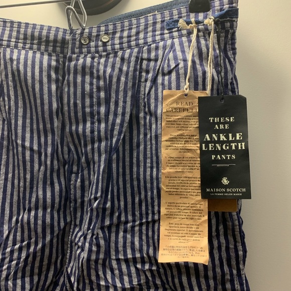 fantastic savings save off top brands Scotch and Soda NWT Striped pants NWT
